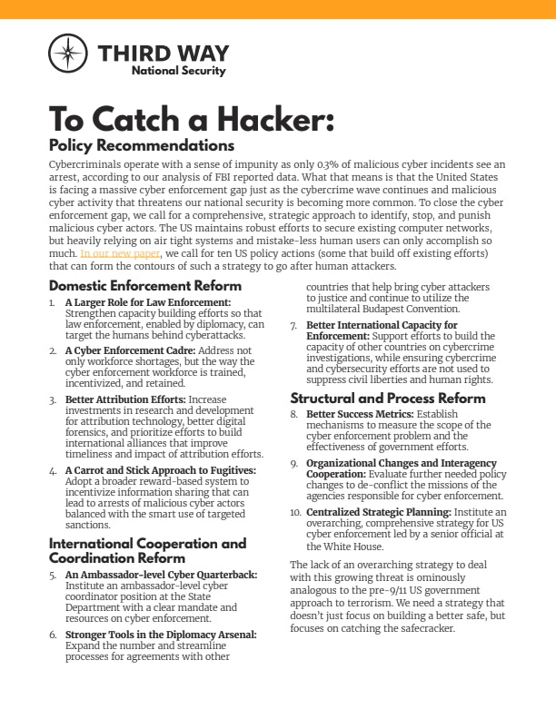 To Catch a Hacker: Toward a comprehensive strategy to