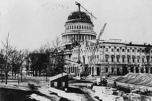 800Px Flickr   Uscapitol   Construction Of The U S  Capitol Dome