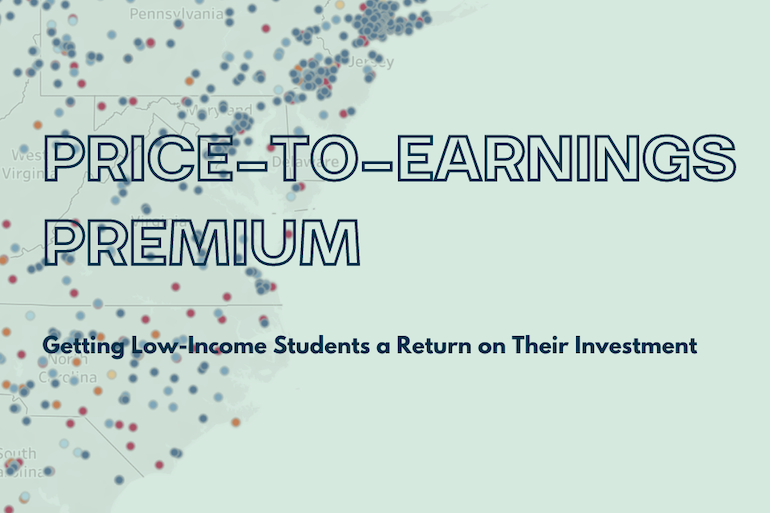 PRICE TO EARNINGS PREMIUM Low Income Visualization Header