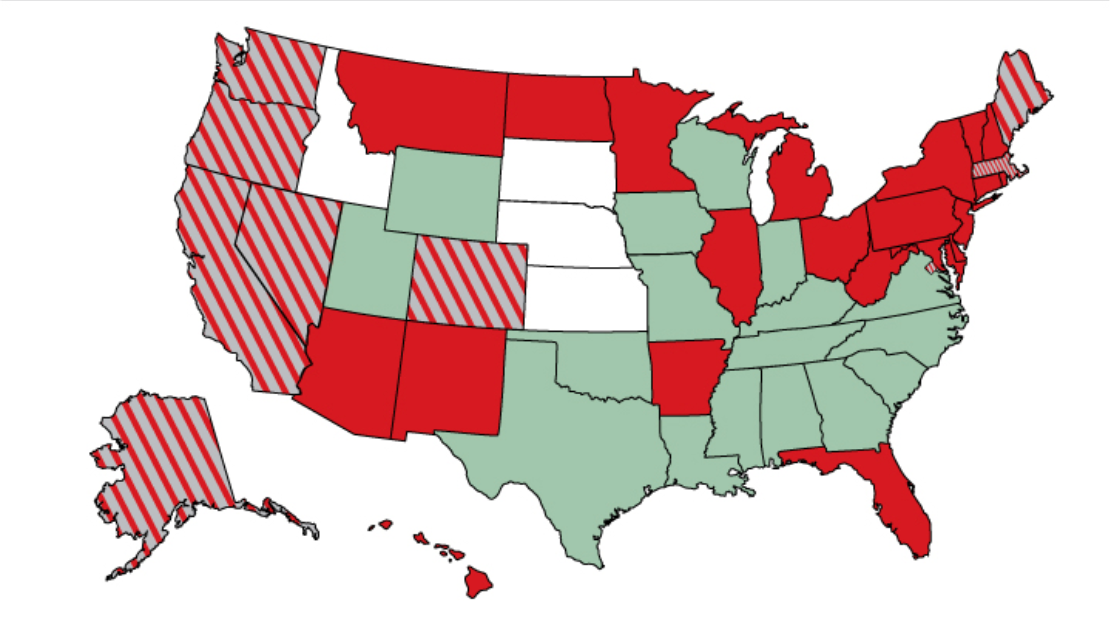 Map Of State Marijuana Legalization Laws Third Way