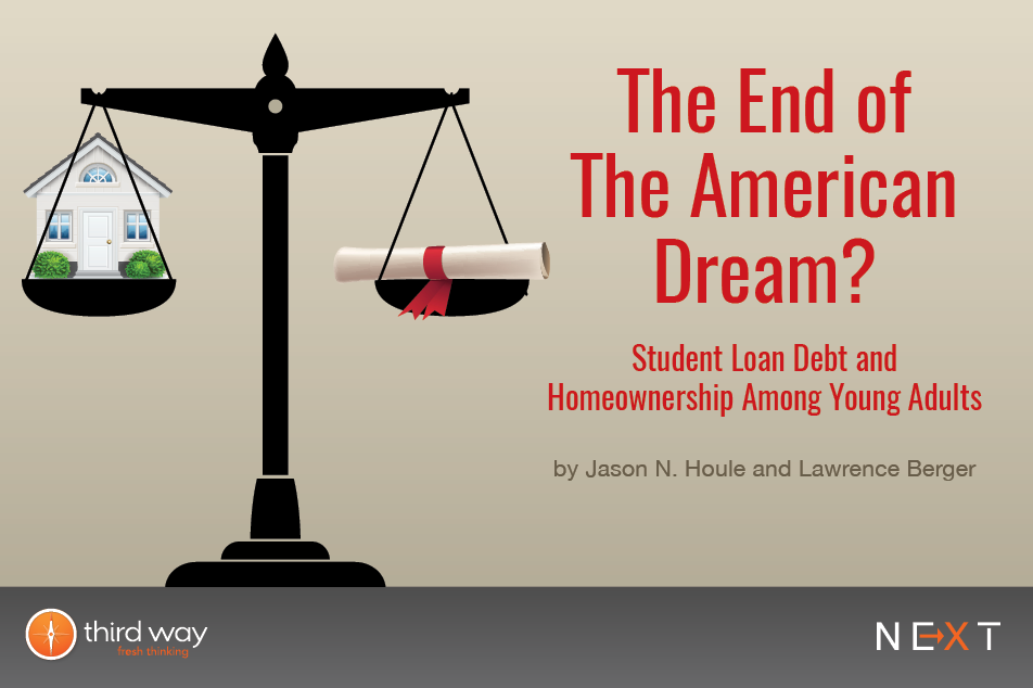 The End of the American Dream? Student Loan Debt and Homeownership Among  Young Adults – Third Way
